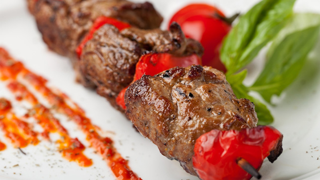 Rosemary Beef and Tomato Kebabs