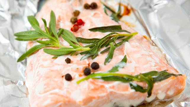 Salmon Asparagus en Papillote