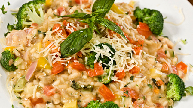 Lemon-Rosemary Risotto with Broccoli