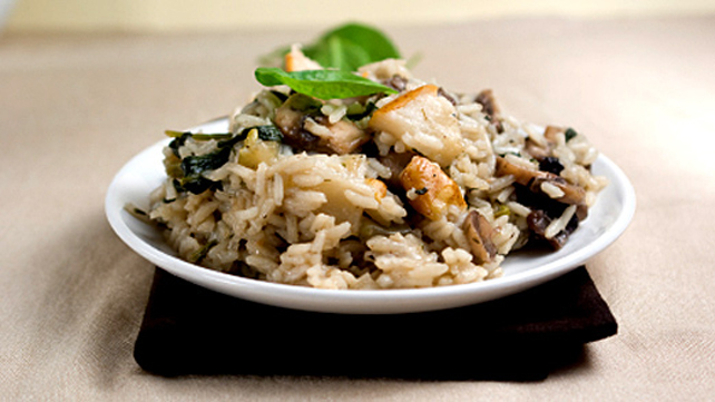 shiitake-and-tofu-pilaf