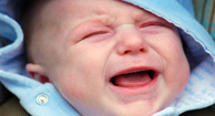 crying baby with colic