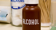 rubbing alcohol container