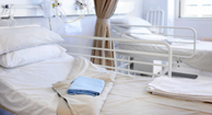 Hospital bed susceptible to bacteria spread