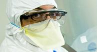 Antibiotic scientist studying resistance