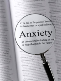 A graphic depicting the definition of 'anxiety.'