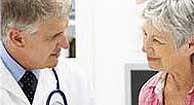 rheumatologist talking to patient