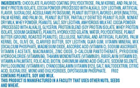 Ingredients in an Atkins Bar