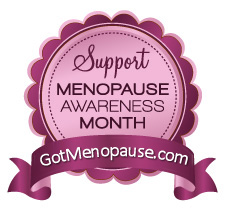 A logo for National Menopause Awareness Month