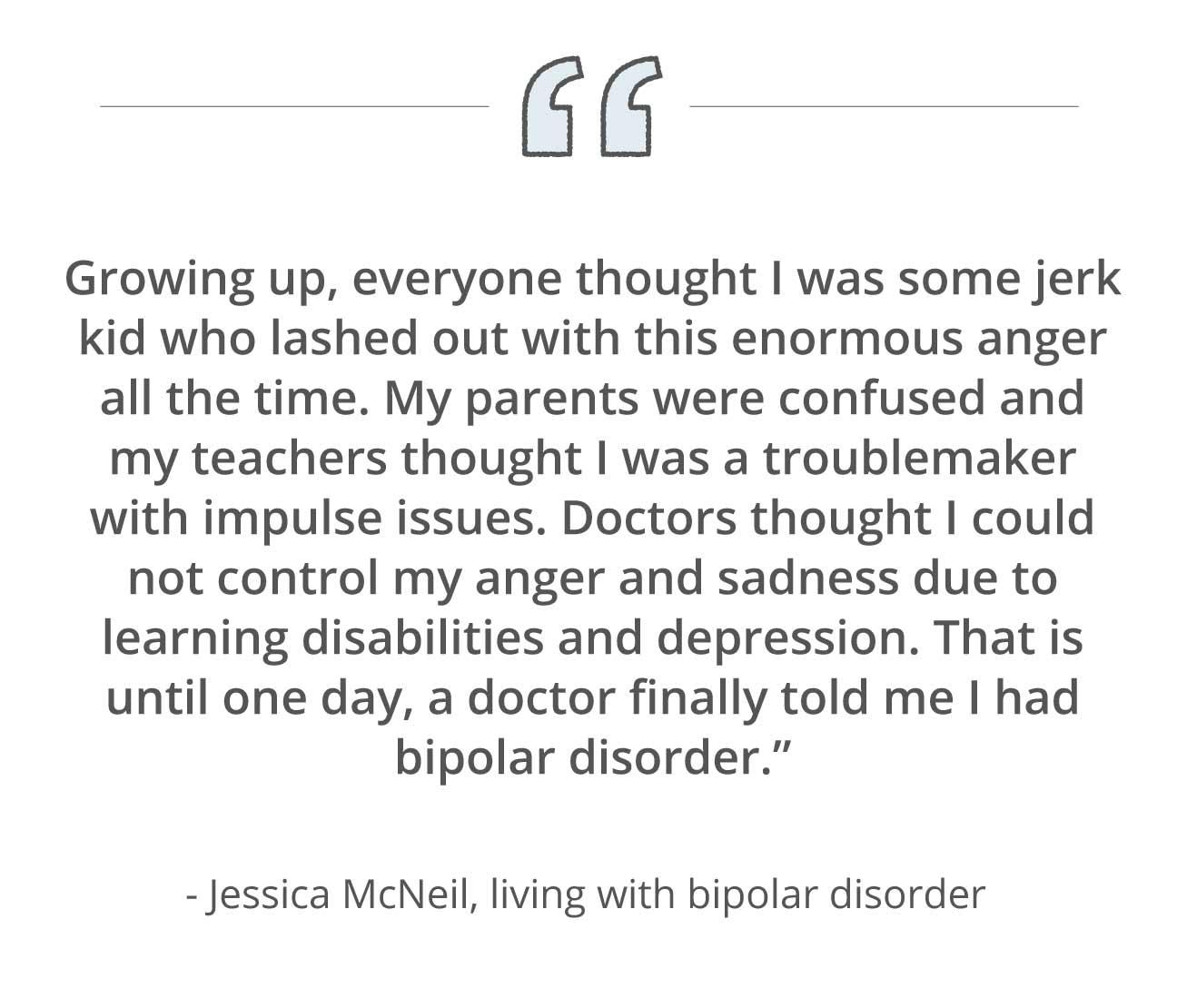 Bipolar misdiagnosis quote