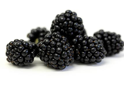 A bunch of fresh blackberries