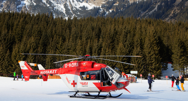 red cross helicopter