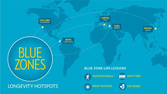 Blue Zones Map