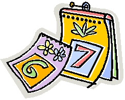 A cartoon depiction of a daily calendar