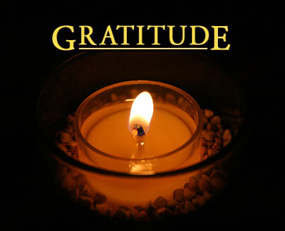Gratitude candle