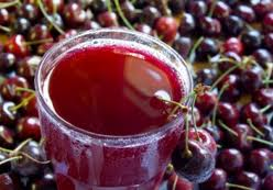 A cup of tart cherry juice.