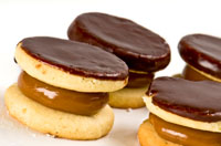 Alfajores -- chocolate covered caramel cookies. Photo courtesy of iStockphoto.com