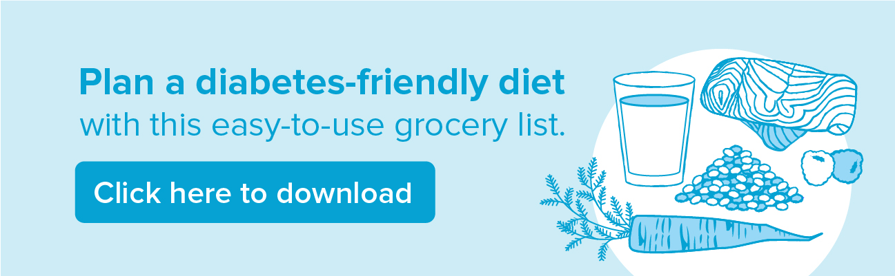 diabetes friendly grocery list