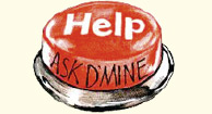ask d'mine logo