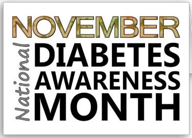 NovemberNationalDiabetesAwarenessMonth