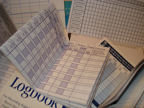 Diabetes logbooks
