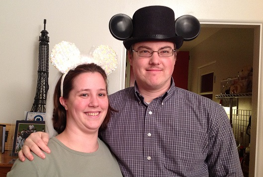 Mike and Suzi Disney Mouse Ears