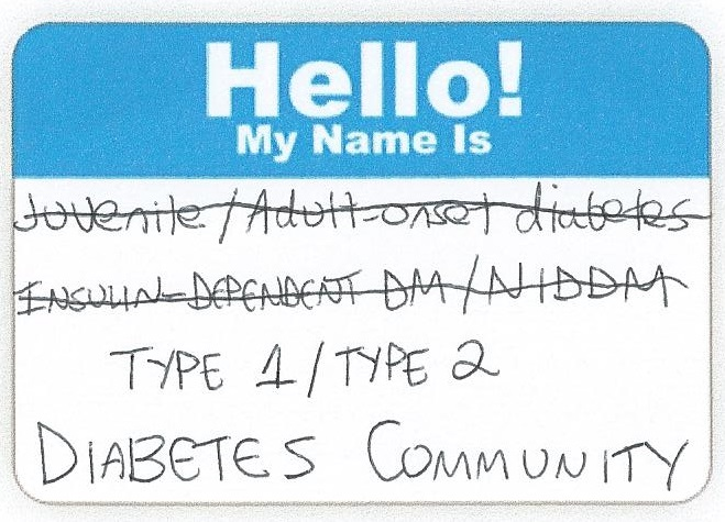 Diabetes NameTag