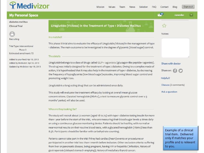 Medivizor Diabetes ScreenShot 1