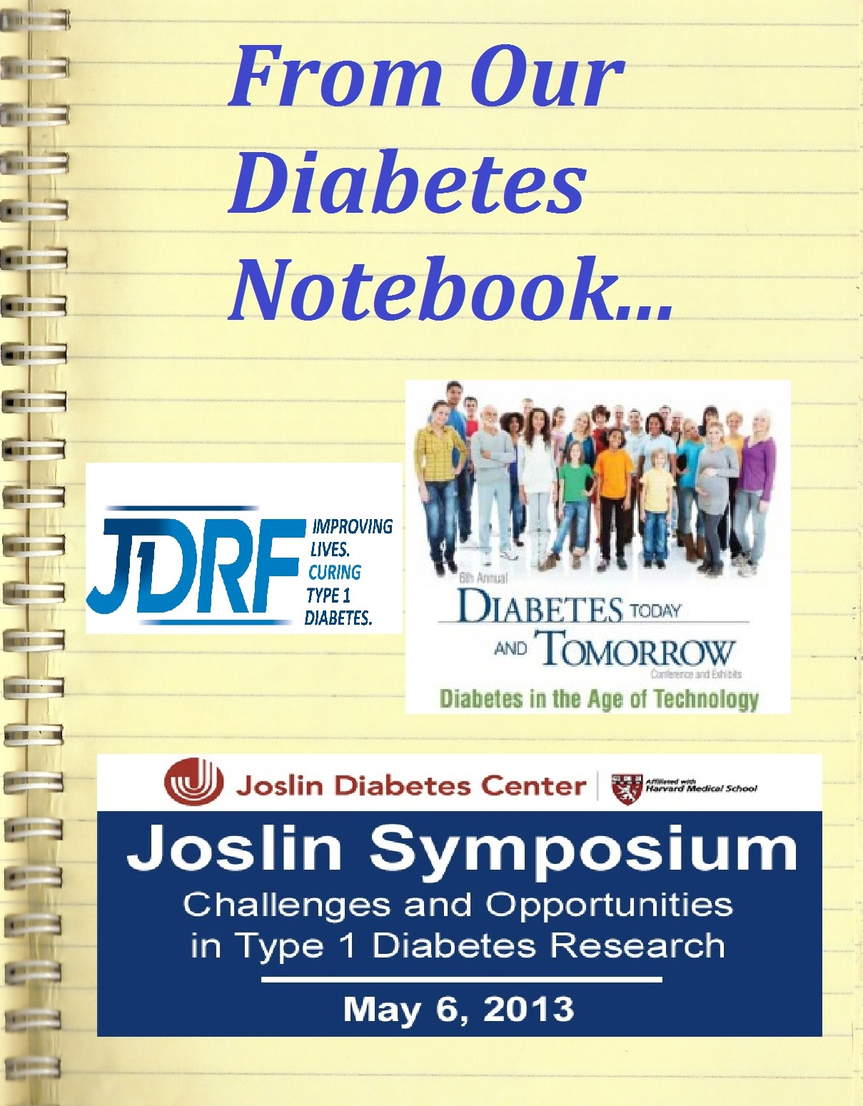 Notebook JDRF and Joslin Conferences