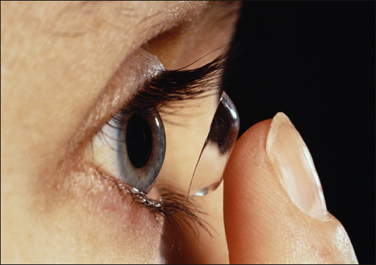 Contact Lens Being Put Into Eye