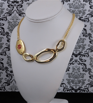 ChicAlertMedID gold necklace