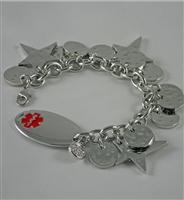 ChicAlertMedID hammered bracelet