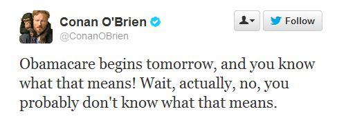 Conan - Obamacare tweet