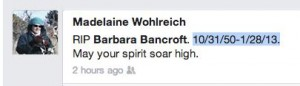 RIP Barbara