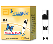 Freestyle diabetic testing strip