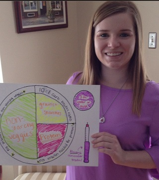 Cait Holding Her Nutrition Month Artwork