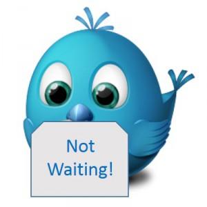 Twitter bird not waiting