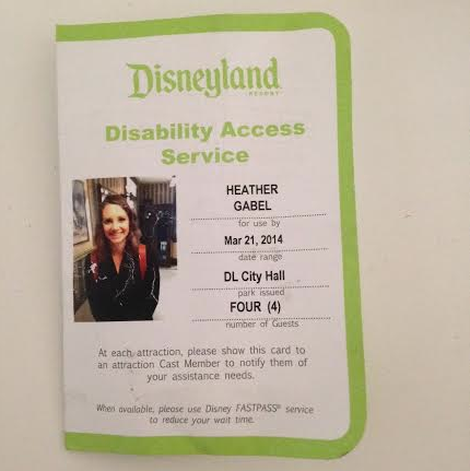 Heather Gabel DisneyLand Badge
