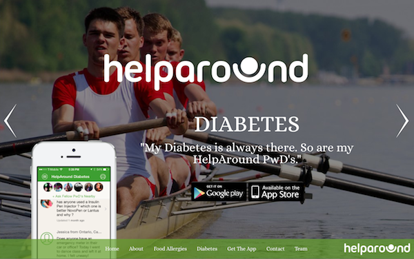 HelpAround App Home and iPhone