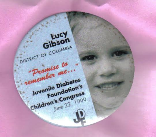 Lucy Gibson JDRF Button