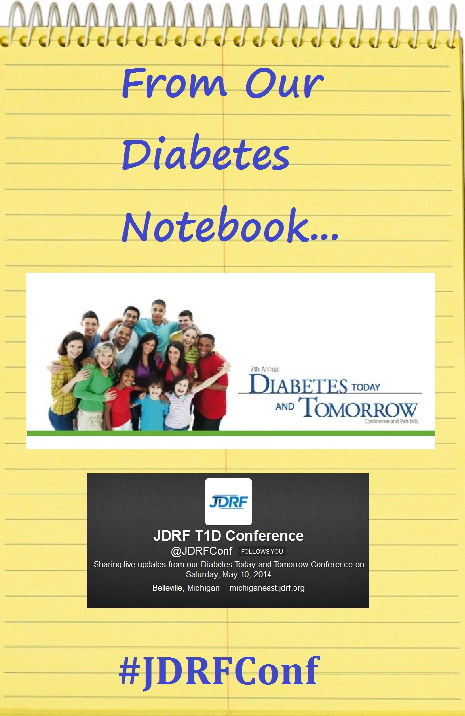 Diabetes Notebook JDRF Conf May 2014