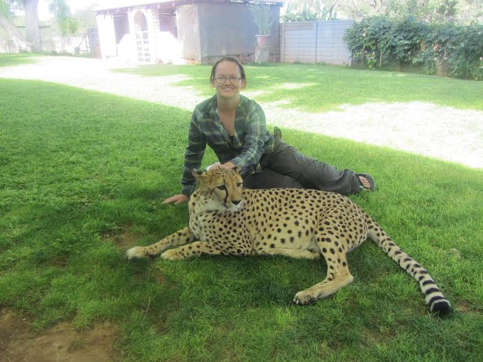 Kim Hislop and Leopard