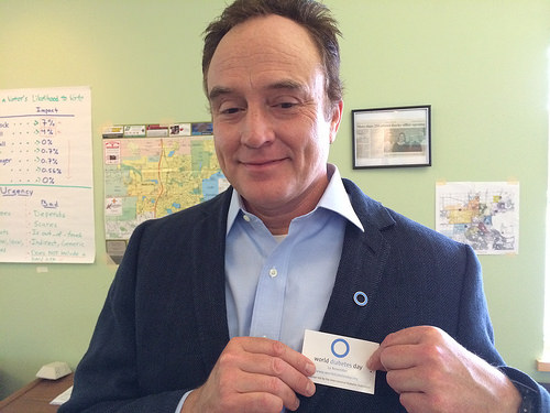 Josh Lyman with Blue Circle pin