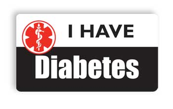 I Have Diabetes Nametag