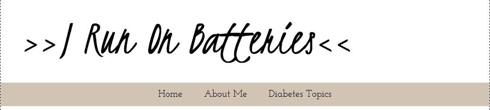 I Run on Batteries blog header