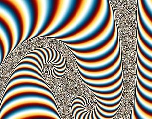 A psychedelic depiction of vertigo.