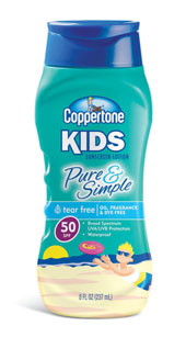 Coppertone kids pure and simple sunscreen.