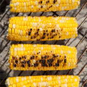 Corn on the cob on the grill.