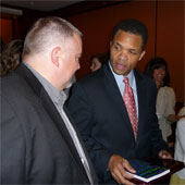 Andrew Tubesing with Rep. Jesse Jackson Jr.