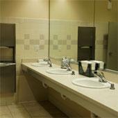 Public restroom - sinks.