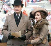 Colin Firth and Helena Bonham Carter filming The King's Speech at Queen Street Mill Textile Museum